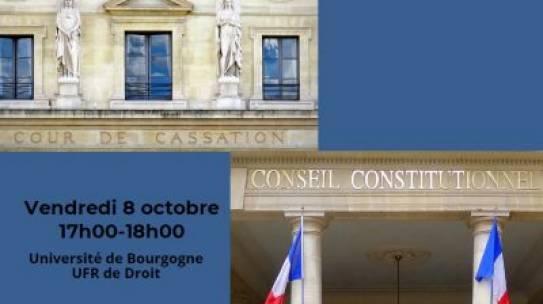 Conférence «Cour de cassation, Conseil constitutionnel : penser l'avenir ensemble» – 08/10/2021