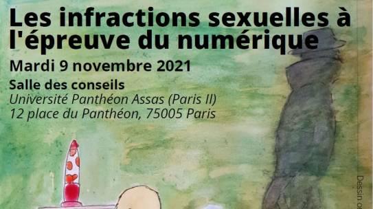 Colloque «Les infractions sexuelles à l'épreuve du numérique» – 09/11/2021